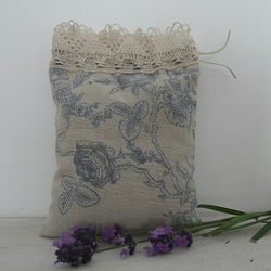 Lavender Bag - French Linen Toile