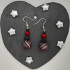 Festive polymer clay dangly earrings