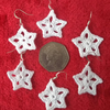 Christmas star earrings, Crochet jewellery, Crochet earrings, Christmas earrings
