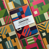 Pack of three, lined paper, A6 pocket notebooks with graphic pattern cover.