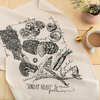 British Dinner Towel 'Sunday Roast' Hand Screen Printed Cotton Tea Towel