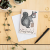 Birthday Squirrel Card