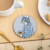 Coffee Lover Cat Coaster