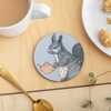 Tea Time Squirrel Coaster