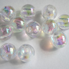 Clear Iridescent Plastic Beads