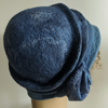 Felted wool cloche hat: Shades of blue, double layered .. for Clare
