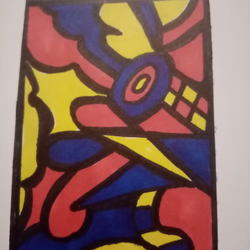 Abstract, aceo original