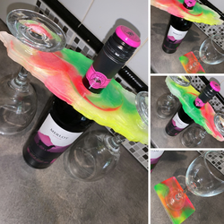 Neon Wine Glass Holder and Coasters