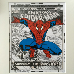 Spider-Man - Idea 2 - Marvel Comics - Hand drawn and hand painted cel