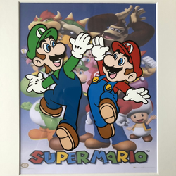 Super Mario - Mario & Luigi - Hand drawn and hand painted cel