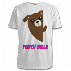 Personalised T-Shirts Peeping Animals with your Child's Name Free PP