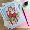 Set of 4 Fairy Christmas Cards