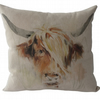 Cow, printed panel Feature Cushion, Throw Pillow