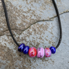 Lamp work glass beads necklace