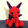 Kawaii Crocheted Red Dragon