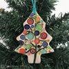 Bright bauble ceramic Christmas tree decoration