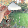 Stained Glass Rain Cloud Multi - Handmade Hanging Window Decoration