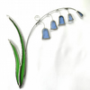 Stained Glass Bluebell Suncatcher - Handmade Hanging Decoration Blue