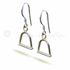 FREE POST UK Handmade Silver Stirrup Earrings Horse Jewellery Gift Wrapped HCE2