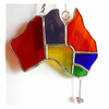Australia Suncatcher Stained Glass Rainbow Map Oz 011