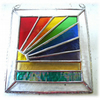 Rainbow Beach Stained Glass Suncatcher Handmade 030