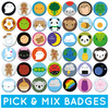 Pick and Mix Kawaii Badges - choose any 2, 4 or 10