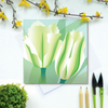 Spring Green Tulip card - Spring, flower, blank card