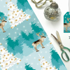 Winter Woodland Reindeer Christmas Gift Wrapping Paper
