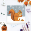 Winter Squirrel Christmas Card - sustainable, recyclable
