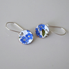 Forget me not enamelled earrings