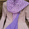 Handmade Organic Cotton Scarf with Ceramic Heart Scarf Pin