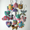 Shirley Rainbow Lavender Bags Hand Stitched and Embroidered Wool Felt