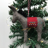 Hand Stitched Wool Felt Donkey Christmas Tree Decoration