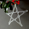Recycled glass star Christmas decoration