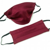 Reusable Face Covering, Washable Burgundy Face Mask
