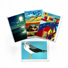 SPECIAL PRICE-FOUR CARD SELECTION PACK-BIRDS, BEACHES AND BRISTOL