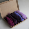 "Carded Corriedale wool slivers selection - 25g  ""purple"" letterbox pack"
