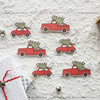 Vintage Red Christmas Car and Truck, luxury Christmas gift tags