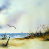 Beach, Original Watercolour Painting.
