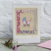 Pretty hand-stitched detailed miniature for precious new baby girl