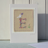 Sweet little hand-stitched letter E - new baby, first birthday, any birthday!