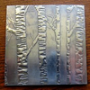 Embossed Silver Birch Pewter Coaster