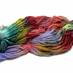 Hand Dyed Pencil Roving Cheviot Wool Giant Yarn Knitting 200g PR15