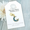 Turquoise Crescent Stitch Marker
