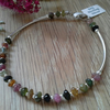 Tourmaline Sterling Silver Bangle Style Bracelet