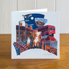 Majestic Animals Fox greetings card, blank inside