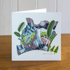 Majestic Animals Bear greetings card, blank inside