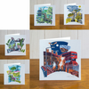 Majestic Animals set of five greetings cards
