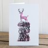 "Winter Drifts ""Stag"" greetings card, Christmas card, blank inside"