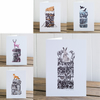 Winter Drifts cards set of all five designs, Christmas cards, blank inside